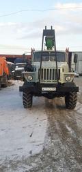 Лесовоз Урал 43204 с манипулятором и роспуском